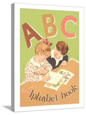 ABC Alphabet Book Cover--Stretched Canvas Print