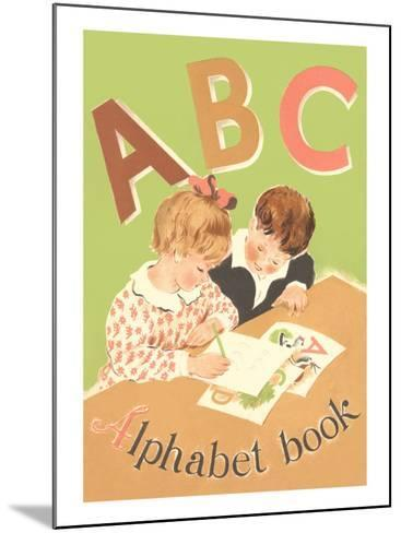ABC Alphabet Book Cover--Mounted Art Print