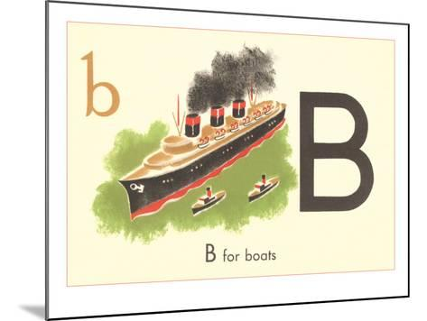 B is for Boats--Mounted Art Print