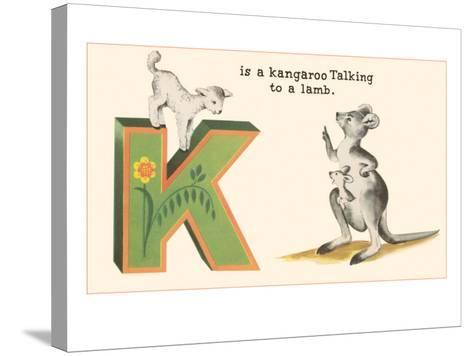 K is a Kangaroo--Stretched Canvas Print