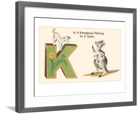 K is a Kangaroo--Framed Art Print