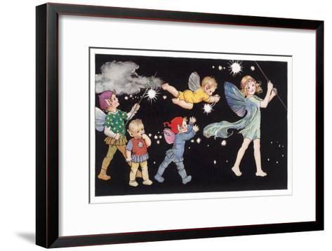 Elf Parade--Framed Art Print