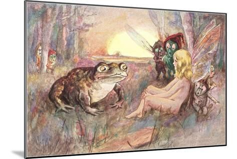 Fairy Talking to Frog--Mounted Art Print