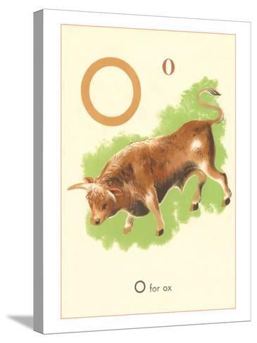 O is for Ox--Stretched Canvas Print
