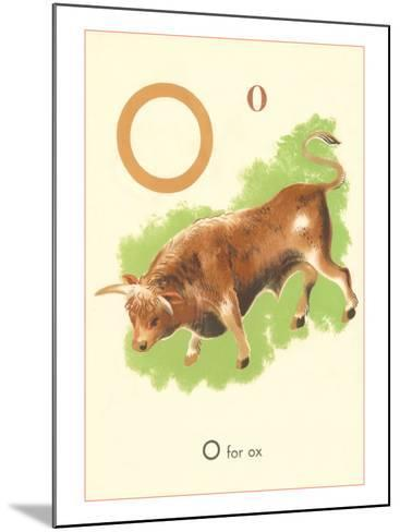 O is for Ox--Mounted Art Print