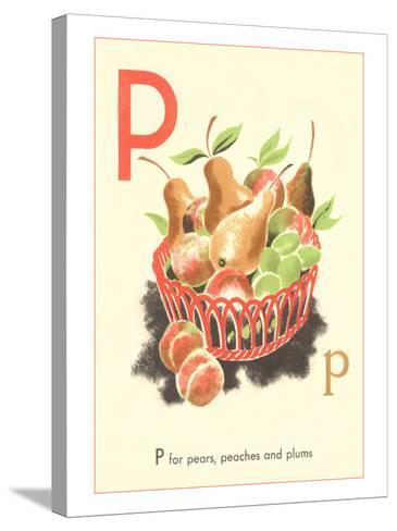 P is for Pears--Stretched Canvas Print