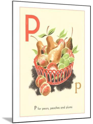 P is for Pears--Mounted Art Print