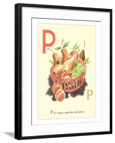 P is for Pears--Framed Art Print
