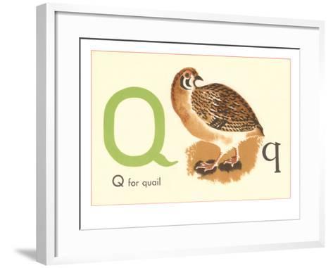 Q is for Quail--Framed Art Print