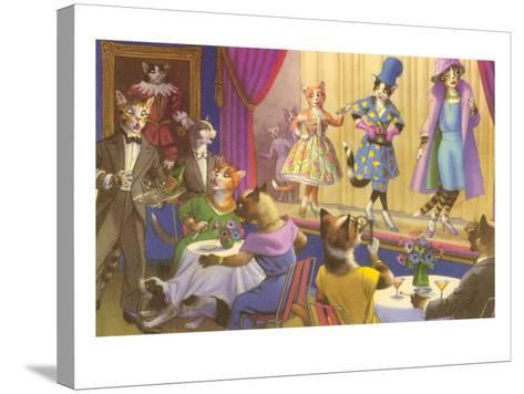 Cats at the Fashion Show--Stretched Canvas Print