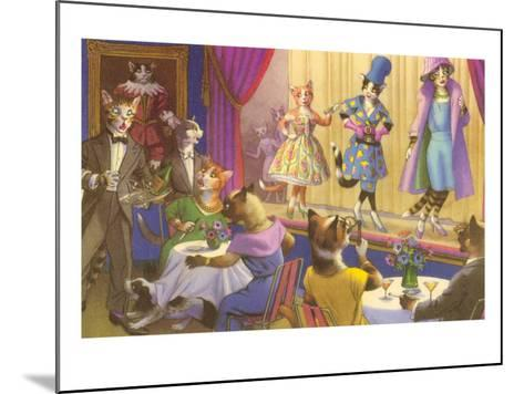 Cats at the Fashion Show--Mounted Art Print