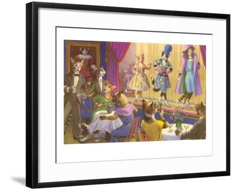 Cats at the Fashion Show--Framed Art Print