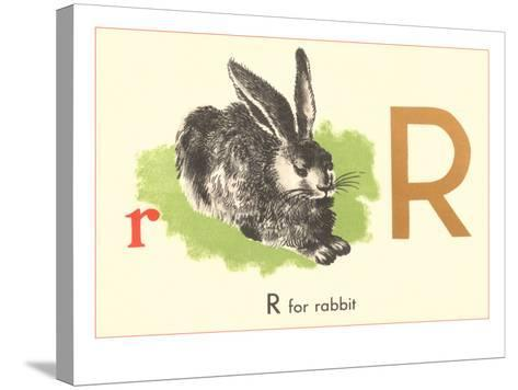 R is for Rabbit--Stretched Canvas Print