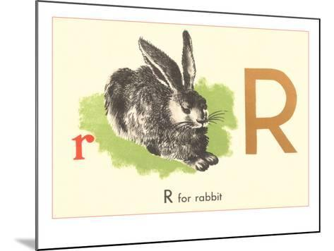 R is for Rabbit--Mounted Art Print