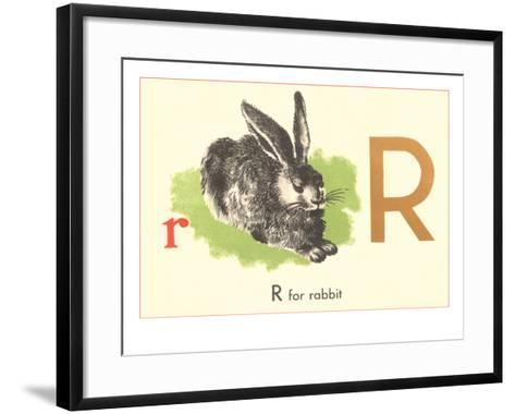 R is for Rabbit--Framed Art Print