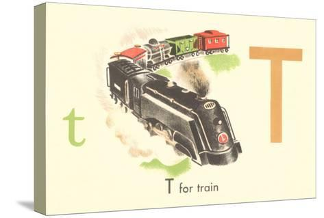 T is for Train--Stretched Canvas Print