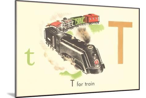 T is for Train--Mounted Art Print