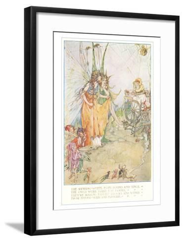 Fairies Spinning Spiderwebs--Framed Art Print
