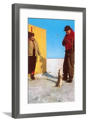 Ice Fishing--Framed Art Print