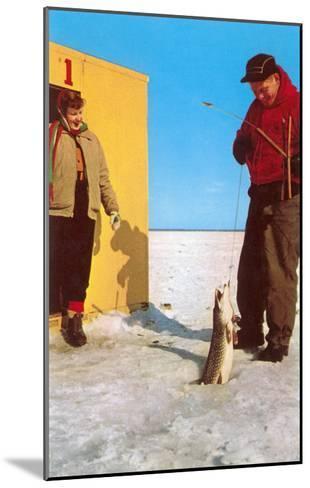 Ice Fishing--Mounted Art Print