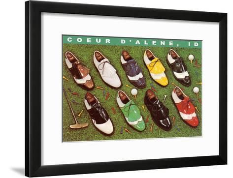 Golf Shoes, Coeur d'Alene, Idaho--Framed Art Print