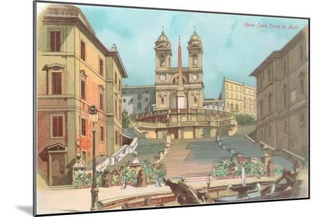 Spanish Steps, Rome--Mounted Art Print