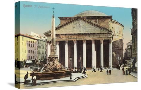 The Pantheon, Rome--Stretched Canvas Print