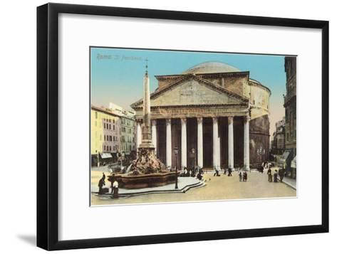 The Pantheon, Rome--Framed Art Print