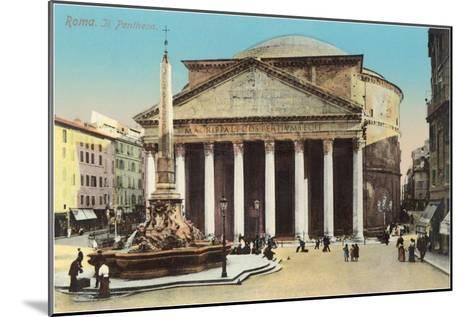 The Pantheon, Rome--Mounted Art Print