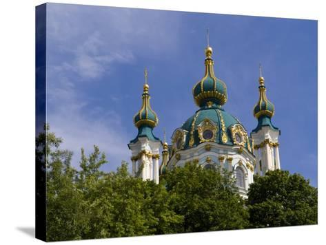Beautiful Dome Church, Klovskiy Spusk Downtown, Kiev, Ukraine-Bill Bachmann-Stretched Canvas Print