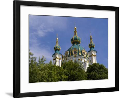 Beautiful Dome Church, Klovskiy Spusk Downtown, Kiev, Ukraine-Bill Bachmann-Framed Art Print