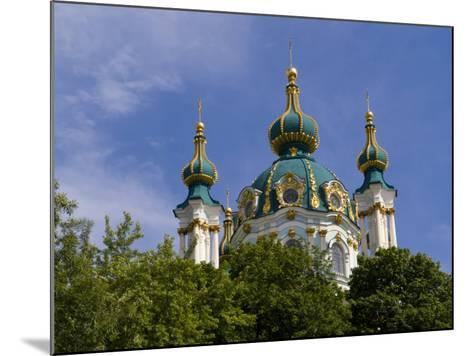 Beautiful Dome Church, Klovskiy Spusk Downtown, Kiev, Ukraine-Bill Bachmann-Mounted Photographic Print