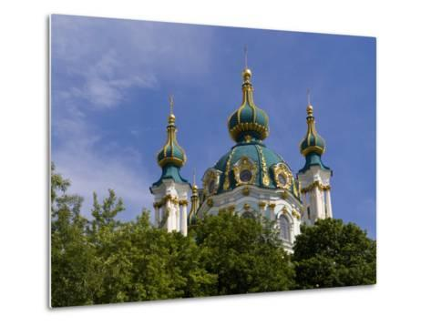 Beautiful Dome Church, Klovskiy Spusk Downtown, Kiev, Ukraine-Bill Bachmann-Metal Print