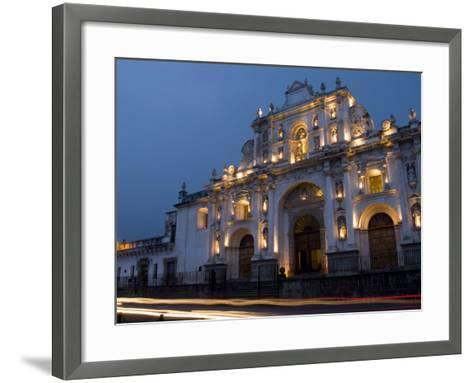 Cathedral in Square, Antigua, Guatemala-Bill Bachmann-Framed Art Print