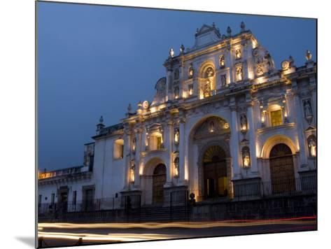 Cathedral in Square, Antigua, Guatemala-Bill Bachmann-Mounted Photographic Print