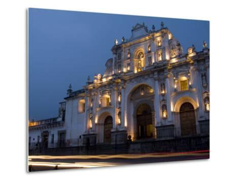 Cathedral in Square, Antigua, Guatemala-Bill Bachmann-Metal Print