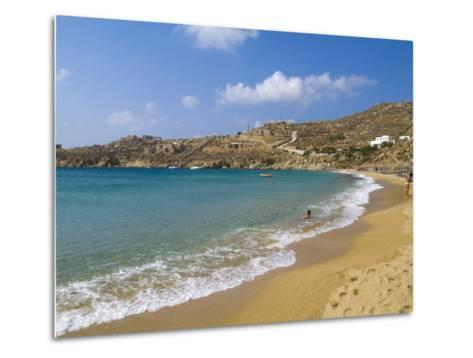 Super Paradise Beach, Mykonos, Greece-Bill Bachmann-Metal Print