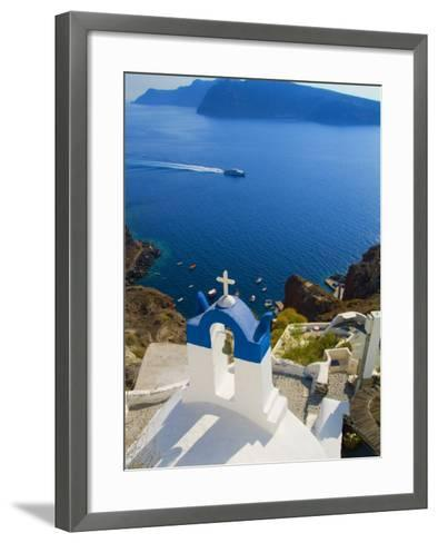 Mountain Cliffs Oia, Santorini, Greece-Bill Bachmann-Framed Art Print