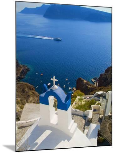 Mountain Cliffs Oia, Santorini, Greece-Bill Bachmann-Mounted Photographic Print