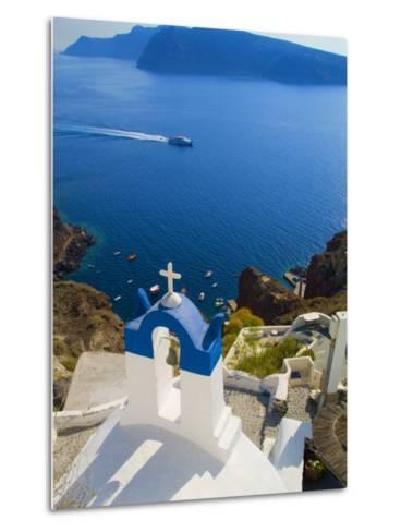 Mountain Cliffs Oia, Santorini, Greece-Bill Bachmann-Metal Print