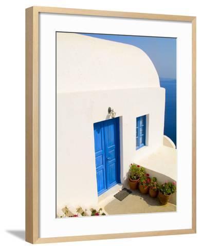 White House, Oia, Santorini, Greece-Bill Bachmann-Framed Art Print