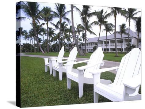 Adirondack Chairs, Ocean Club in Paradise, Atlantis Resort, Bahamas-Bill Bachmann-Stretched Canvas Print