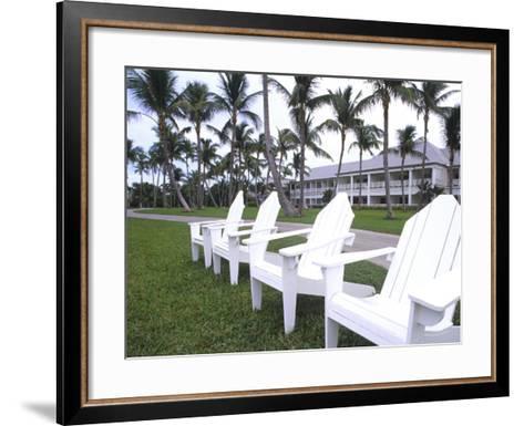 Adirondack Chairs, Ocean Club in Paradise, Atlantis Resort, Bahamas-Bill Bachmann-Framed Art Print