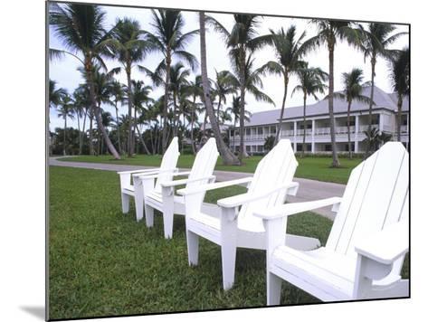 Adirondack Chairs, Ocean Club in Paradise, Atlantis Resort, Bahamas-Bill Bachmann-Mounted Photographic Print