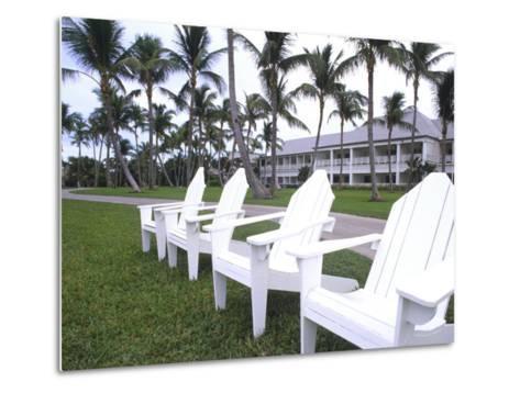 Adirondack Chairs, Ocean Club in Paradise, Atlantis Resort, Bahamas-Bill Bachmann-Metal Print