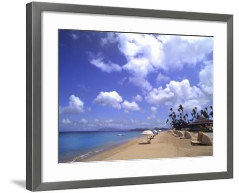 Beach Chairs and Palms, Pinneys Beach, Nevis, Caribbean-Bill Bachmann-Framed Art Print