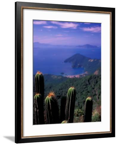 View from Pico Do Papagaio, Ilha Grande, Rio De Janeiro State, Brazil-Julie Bendlin-Framed Art Print