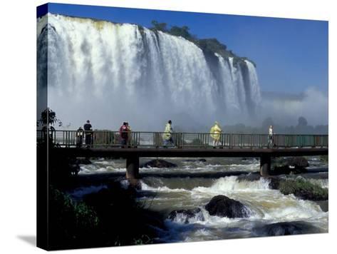 Salto Floriano, Foz Do Iguacu, Iguacu National Park, Parana, Brazil-Julie Bendlin-Stretched Canvas Print