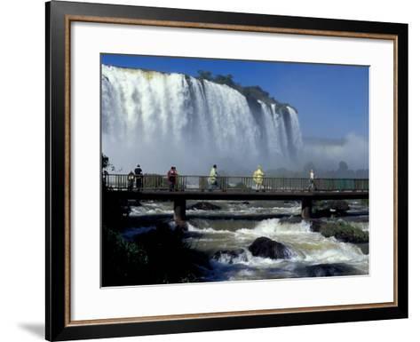 Salto Floriano, Foz Do Iguacu, Iguacu National Park, Parana, Brazil-Julie Bendlin-Framed Art Print