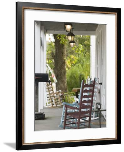 Historic West Point Hotel, West Point, Kentucky, USA-Walter Bibikow-Framed Art Print